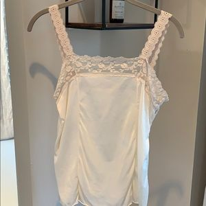 Vintage, feminine and flirty lace tank